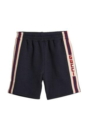 Gucci Boy's Logo Stripe Shorts, Size 12-36 Months