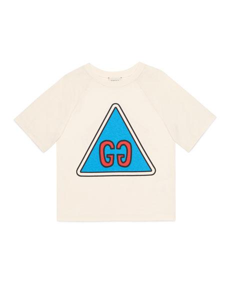 Gucci Boy's GG Short-Sleeve Jersey Graphic T-Shirt, Size 4-12