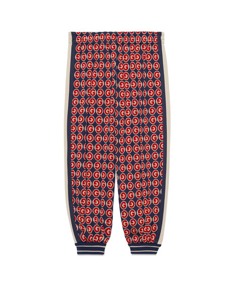 Gucci Boy's Allover G Print Jogger Pants, Size 4-12