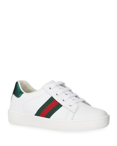 New Ace Leather Tennis Shoes, Toddler