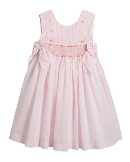 Luli & Me Sleeveless Smocked Bow Dress, Size 12-24 Months