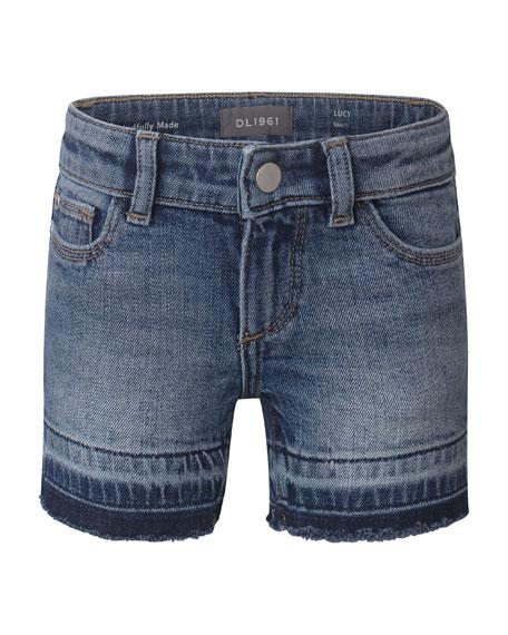 DL1961 Premium Denim Girl's Lucy Cutoff Denim Shorts, Size 7-16