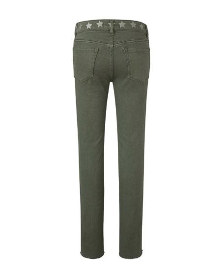 DL1961 Premium Denim Girl's Chloe Skinny Raw Hem Side Stripe Skinny Denim Jeans, Size 7-16