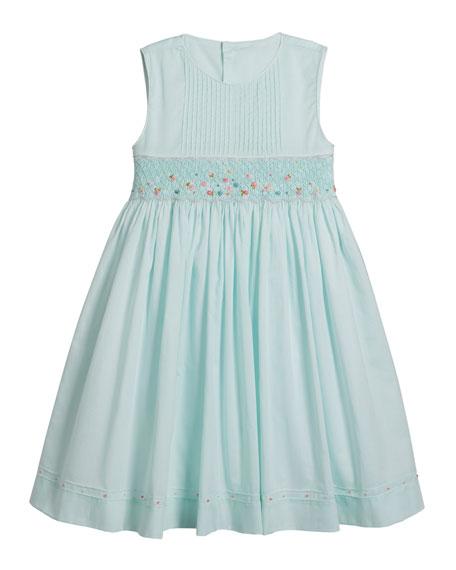 Luli & Me Sleeveless Smocked Dress, Size 4-6X