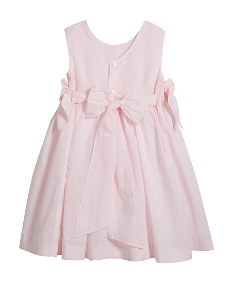 Luli & Me Sleeveless Smocked Bow Dress, Size 2-4T