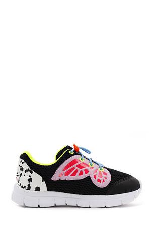 Sophia Webster Chiara Mesh Butterfly-Wing Sneakers, Baby/Toddler/Kids