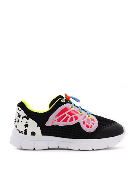 Sophia Webster Chiara Mesh Butterfly-Wing Sneakers, Baby/Toddler/Kids