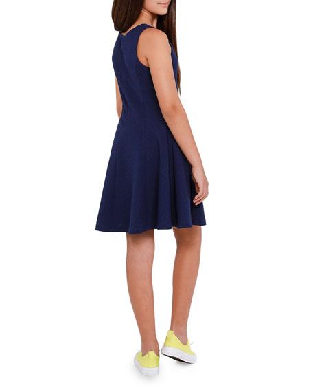 Sally Miller The Nikki Textured Stripe Sleeveless Dress, Size S-XL