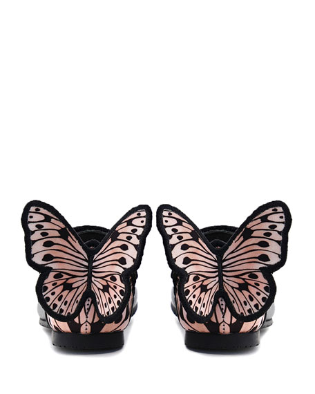 Sophia Webster Chiara Leather Butterfly Mary Jane Flats, Baby/Toddler