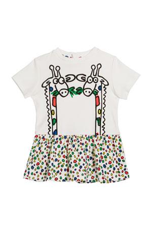 Stella McCartney Kids Baby Girl's Giraffe Print Short-Sleeve Tee, Size 12-36 Months