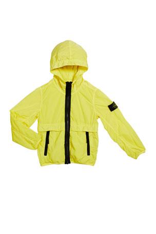 Stone Island Boy's Lightweight Hooded Jacket w/ Contrast Trim, Size 2-4