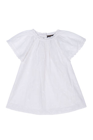Velveteen Rose Flutter Sleeve Dress, 3-24 Months