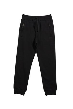 Dolce & Gabbana Boy's Zip Pockets Jogger Sweatpants, Size 4-6