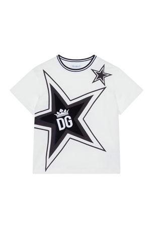 Dolce & Gabbana Boy's Millennials Star Print T-Shirt, Size 8-12