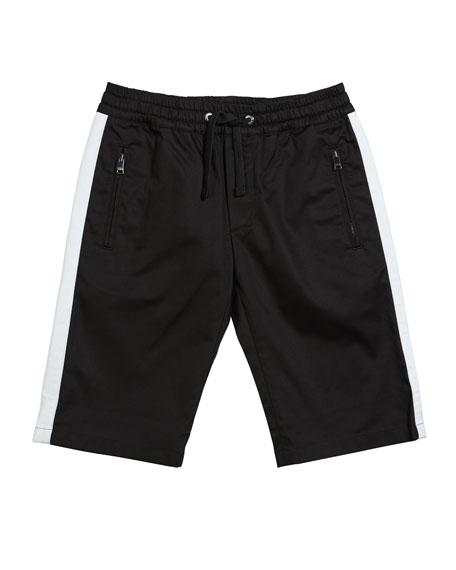 Dolce & Gabbana Boy's Gabardine Stretch Shorts, Size 8-12
