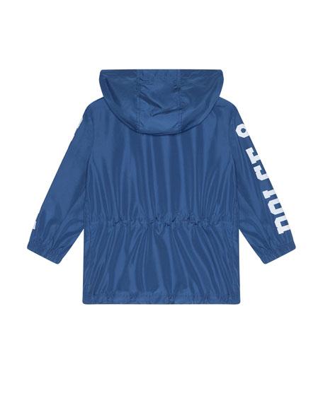 Dolce & Gabbana Boy's Summer Smile Logo Parka, Size 4-6