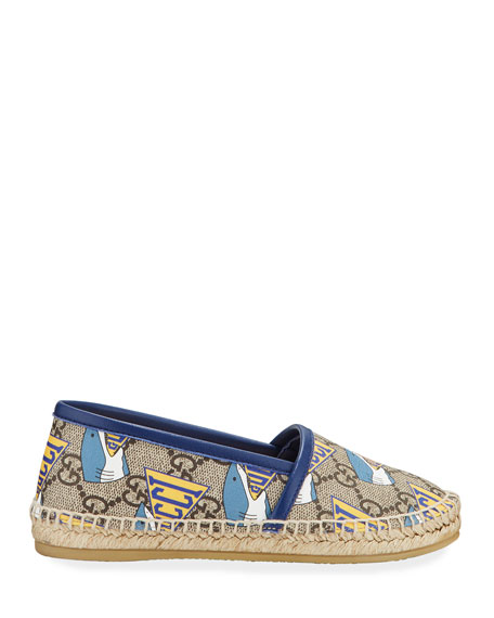 Image 2 of 4: Gucci Shark GG Espadrille, Toddler