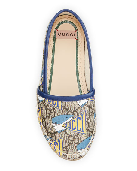 Image 3 of 4: Gucci Shark GG Espadrille, Toddler