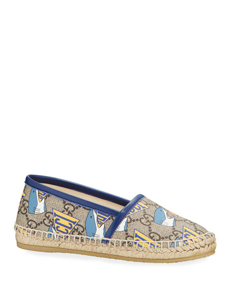 Image 1 of 4: Gucci Shark GG Espadrille, Toddler