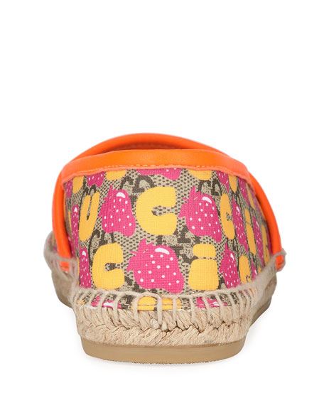 Gucci Strawberry GG Espadrille, Toddler/Kids