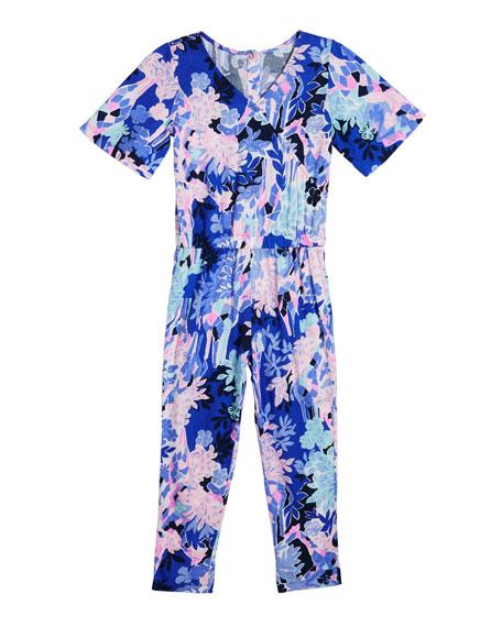 Lilly Pulitzer Mini Maliah Floral-Print Jumpsuit, Size XS-XXL