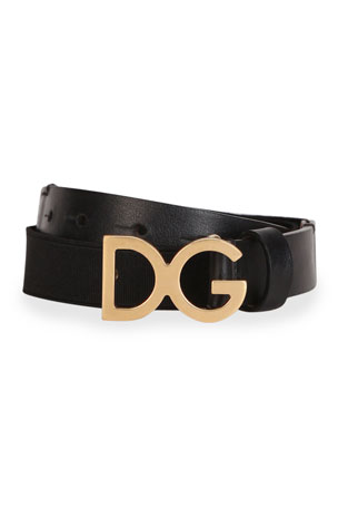 Dolce & Gabbana Kid's DG Leather Belt