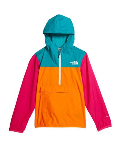 Girl's Colorblock 1/2-Zip Pullover Wind Jacket  Size XXS-XL