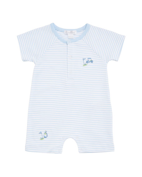 Kissy Kissy Double Bogey Striped Short Playsuit, Size 3-24 Months