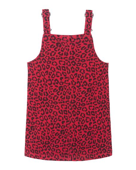 DL 1961 Girl's Penelope Animal Print Pinafore Dress, Size 2-6X