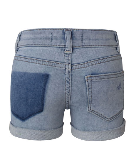 DL 1961 Girl's Piper Cuffed Denim Shorts, Paltrow, Size 2-6