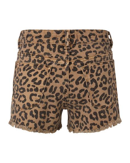 DL1961 Premium Denim Girl's Lucy Animal Print Cut Off Shorts, Size 2-6