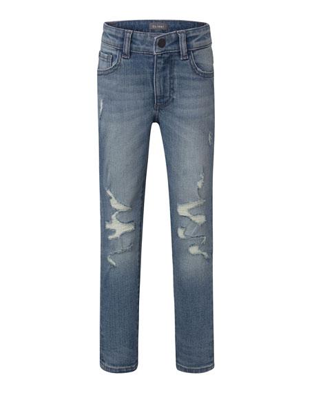 DL1961 Premium Denim Boy's Zane Super Skinny Distressed Denim Jeans, Size 8-18