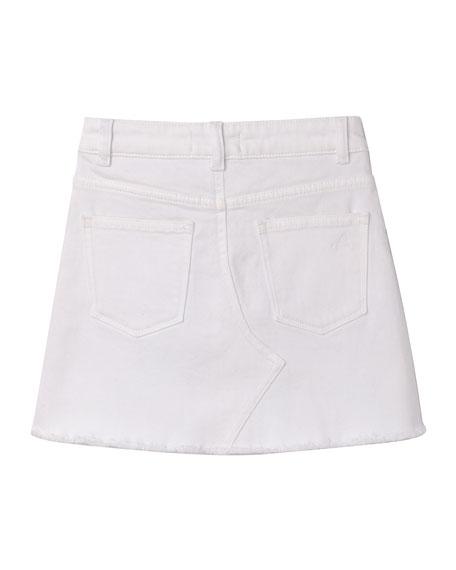 DL1961 Premium Denim Girl's Jenny Raw Hem A-Line Skirt, Size 2-6