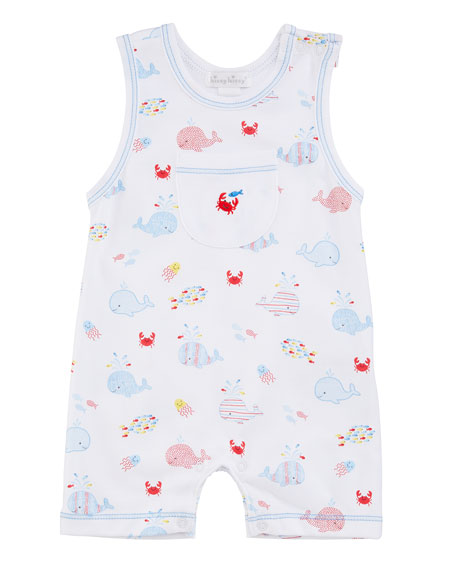 Kissy Kissy Whale of a Time Sleeveless Pima Playsuit, Size 3-18 Months