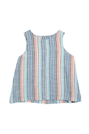 Splendid Girl's Striped Woven Tank, Size 7-14