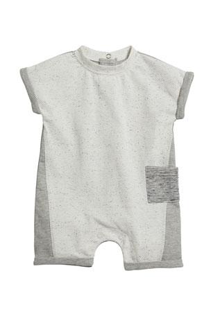 Miniclasix Colorblock Pocket Shortall, Size 3-9 Months