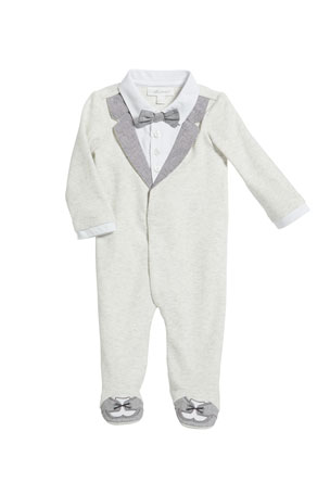 Miniclasix Mock Tuxedo Footed Coverall, Size 3-9 Months