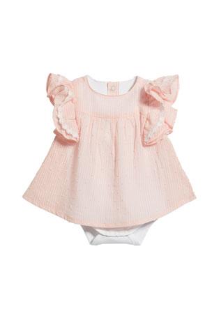 Miniclasix Swiss Dot Dress Bodysuit, Size 3-9 Months