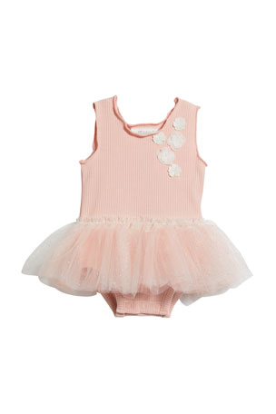 Miniclasix Glitter Skirted Bodysuit, Size 3-9 Months
