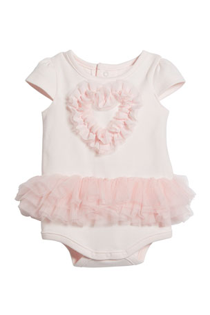 Miniclasix Tulle Heart Bodysuit, Size 3-9 Months