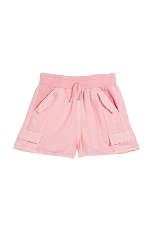 Splendid Girl's Cross Weave Drawstring Shorts, Size 7-14
