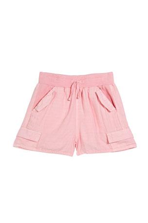 Splendid Girl's Cross Weave Drawstring Shorts, Size 7-14