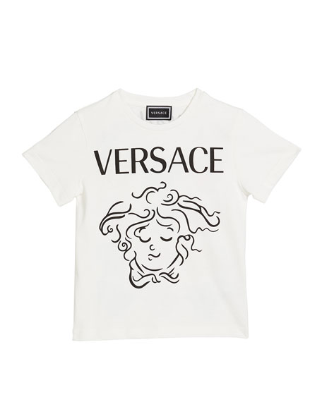 Versace Girl's Medusa Expressions Graphic Tee, Size 4-6