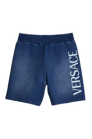 Versace Boy's Logo Bermuda Shorts, Size 4-6