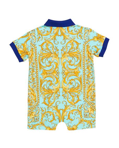 Versace Boy's Barocco Print Polo Shortall, Size 3-18 Months