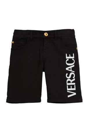 Versace Boy's Logo Shorts, Size 8-14