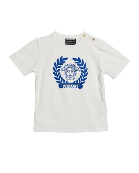 Versace Kid's Short-Sleeve Logo Tee, Size 12-36 Months
