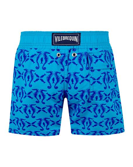 Vilebrequin Boy's Jim Printed Swim Trunks, Size 2-14