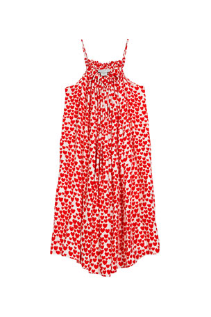 Stella McCartney Kids Girl's Heart Print Sleeveless Dress, Size 4-14