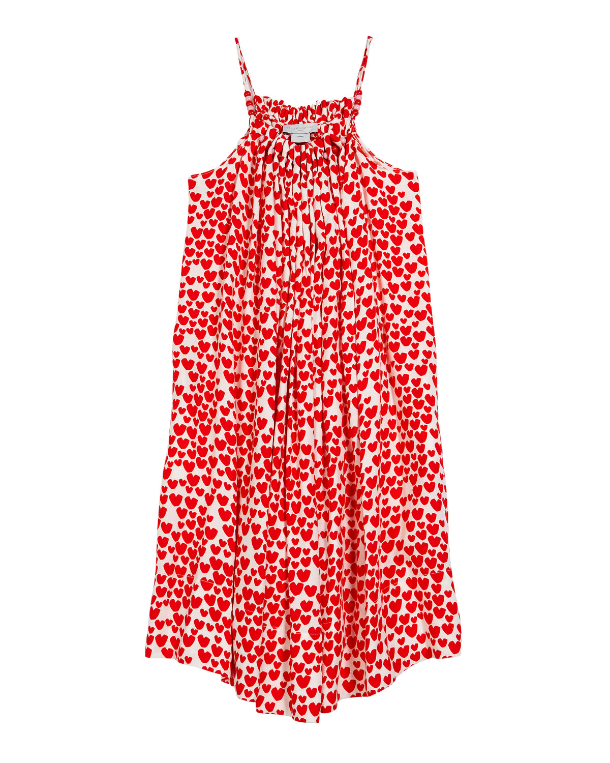 Stella McCartney Kids Girl's Heart Print Sleeveless Dress, Size 4-14